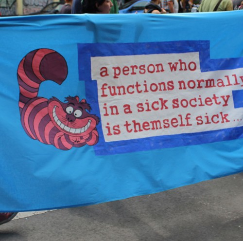 a person who functions normally in a sick society is themself sick