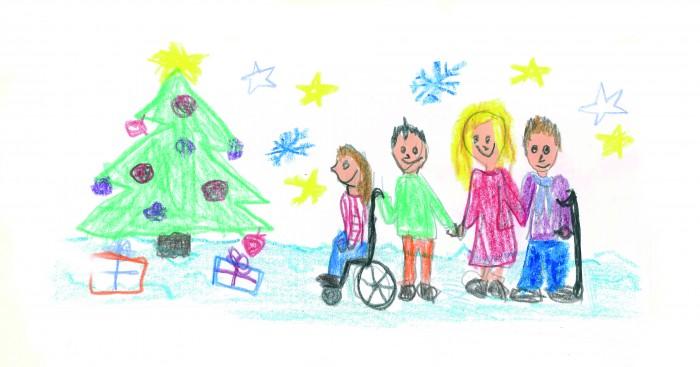 Kinderzeichnung Weihnachten