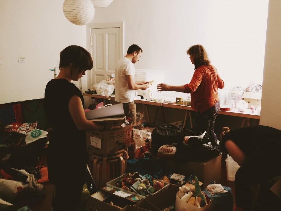 Sammel-Aktion im Kurz & Klein, August 2015, Foto: Andi Weiland